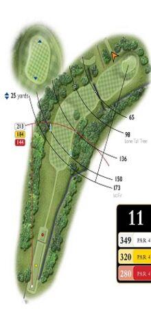 Hole 11 Map