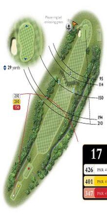 Hole 17 Map